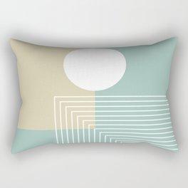 White Sun - Geometric Mid-Century Minimalist Rectangular Pillow