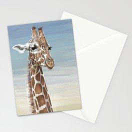 Giraffe Against A Blue Sky Stationery Cards