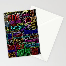Graphic Presidents Stationery Cards