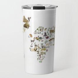 Animal Map Travel Mug