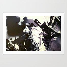 Fugazi....1989 Olympia Washington 35mm film. Art Print