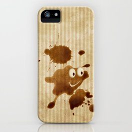 The Smile of Coffee Drop - Old Paper Style iPhone Case
