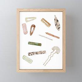 Hairclips Framed Mini Art Print