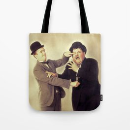 Laurel and Hardy, Hollywood Legends Tote Bag