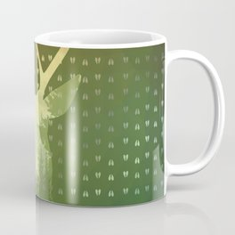 Golden Deer Abstract Footprints Landscape Design Coffee Mug