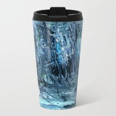 A Clearing Through The Swamp Acrylics On Stretched Canvas  Metal Travel Mug