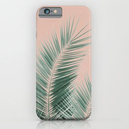 Soft Green Palm Leaves Dream - Cali Summer Vibes #1 #tropical #decor #art #society6 iPhone Case