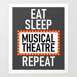 Musical Theatre Fan Gift My Brain is 95% Broadway Gift Art Print
