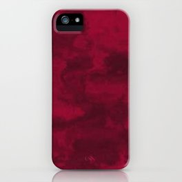 Cool Red marble stone texture design iPhone Case