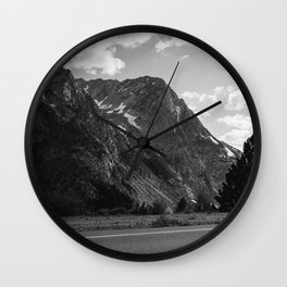 Monochrome Yosemite Drives Wall Clock