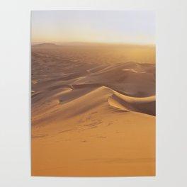 Sunset in the Sahara Desert Poster