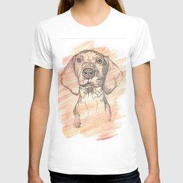 Vizsla Puppy Watercolor Painting T-shirt