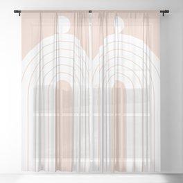 Abstraction_Balance_Minimalism_005 Sheer Curtain