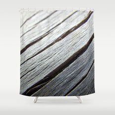 Rustic wooden floor (grey colors) Shower Curtain