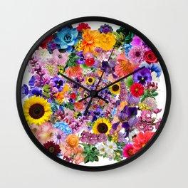KiWi Centripetal Flowers Wall Clock
