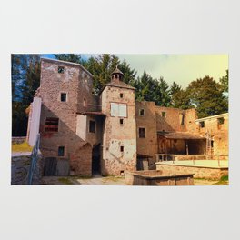 The ruins of Reichenau castle | architectural photography Rug
