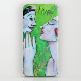 In love with the mask iPhone Skin