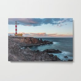 Arico Lighthouse with Long Exposure. Metal Print