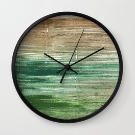 Artichoke abstract watercolor Wall Clock