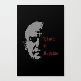 CHURCH OF SAVALAS - TRIBUTE TO TELLY SAVALAS Canvas Print