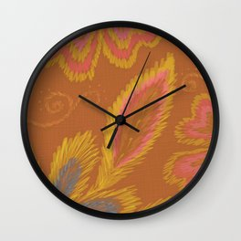 Golden Crewel Wall Clock