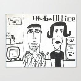 "Jonatan's ""At the Office"" Canvas Print"