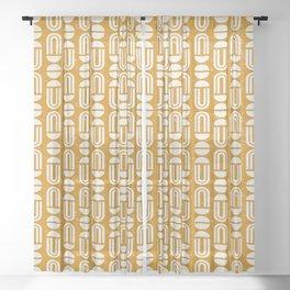 MACHA GEO GOLD Sheer Curtain
