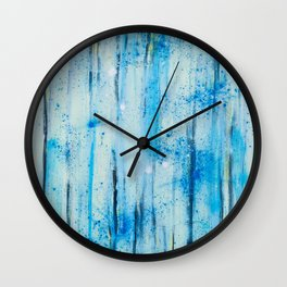 lines on blue background Wall Clock