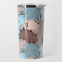 Four wheels blue #homedecor Travel Mug