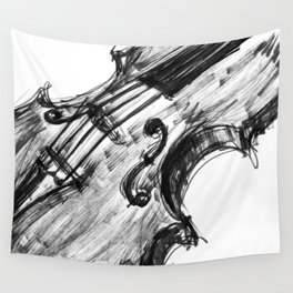 Black Violin Wall Tapestry