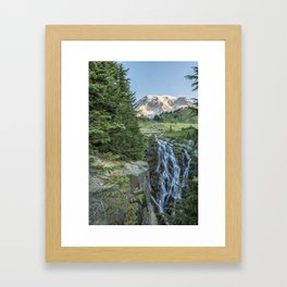Early Morning at Myrtle Falls Framed Art Print