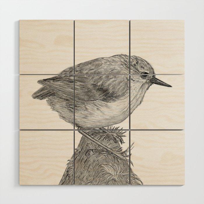 Rifleman - New Zealand Native Bird Wood Wall Art
