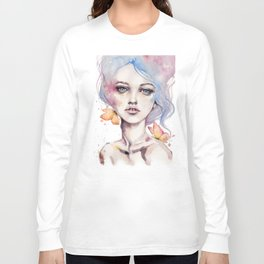 With Elegance (female Portrait) Long Sleeve T-shirt
