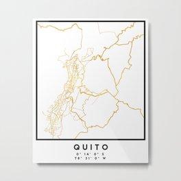 QUITO ECUADOR CITY STREET MAP ART Metal Print