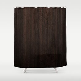 Very Dark Coffee Table Wood Texture Shower Curtain