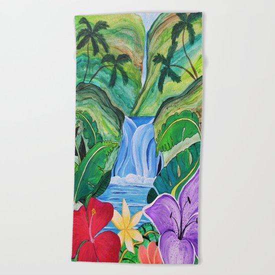 Tropical Escape Beach Towel