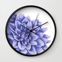Big flower, purple chrysanthemum Wall Clock