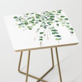 Eucalyptus Watercolor Side Table