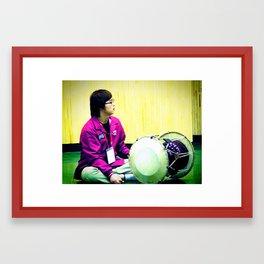 playing the jang-gu Framed Art Print