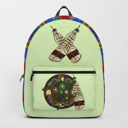 Native American Folk Art Frog Backpack