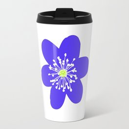 Flower Anemone Hepatica Travel Mug