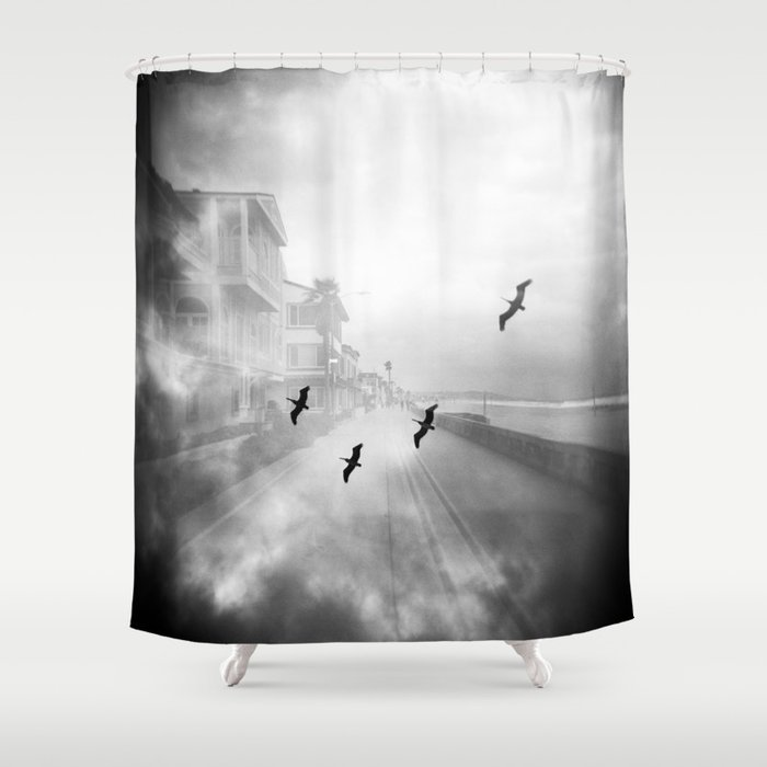 """""""Birds of a Feather"""" Holga Double Exposure in San Diego, California Shower Curtain"""