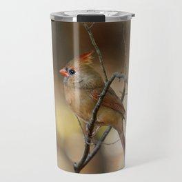 Beautiful Female Cardinal Travel Mug