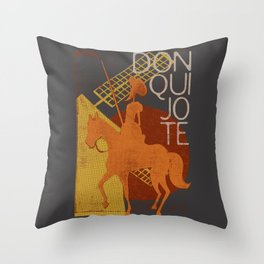 Books Collection: Don Quixote Throw Pillow
