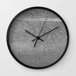 Crinkled Silver Foil Texture Christmas/ Holiday Wall Clock