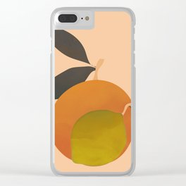 An Orange and a Lemon Clear iPhone Case