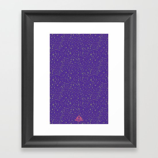 Trail Status / Mountain Purple Framed Art Print