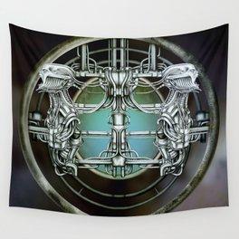 """Astrological Mechanism - Gemini"" Wall Tapestry"