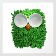 Hootie the House Owl! Art Print