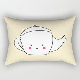 Kawaii Teapot Rectangular Pillow